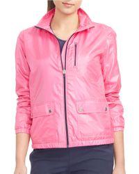 Lauren by Ralph Lauren | Pink Mockneck Track Jacket | Lyst