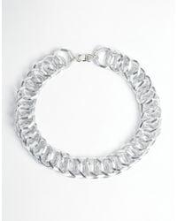 ASOS - Metallic Linked Choker Necklace - Lyst