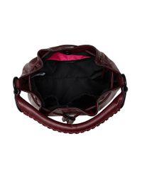 Elliott Lucca | Purple Gigi Leather Drawstring Bucket Bag | Lyst