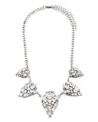 Forever 21 | Metallic Faux Gemstone Necklace | Lyst