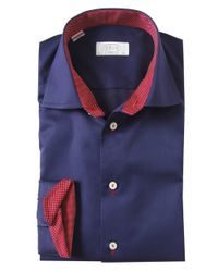 Eton of Sweden | Blue Contemporary Fit Trim Insert Shirt for Men | Lyst
