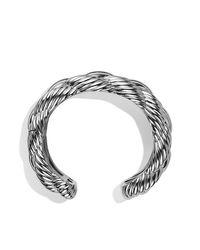 David Yurman | Metallic Large Woven Cable Cuff | Lyst