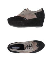 Donna Più | Black Lace-up Shoes | Lyst