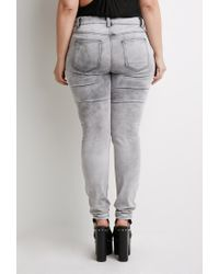 Forever 21 - Gray Plus Size Cloud Wash Jeans - Lyst