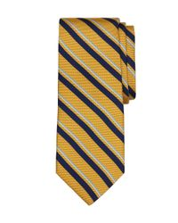 Brooks Brothers | Yellow Print Stripe Tie for Men | Lyst