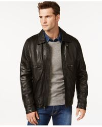 Andrew Marc - Black Exeter Leather Jacket for Men - Lyst