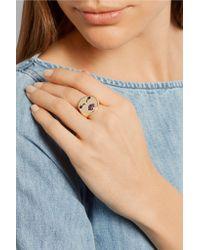 Alison Lou - Metallic Mwa! 14-karat Gold Ruby Ring - Lyst