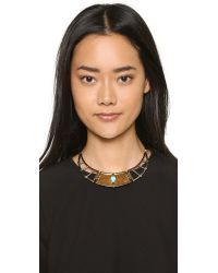 Pamela Love | Brown Frida Breastplate Necklace - White Bronze/brass | Lyst