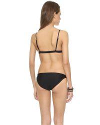 Mikoh Swimwear - Black Belize Bikini Top - Night - Lyst