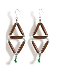 Shashi | Chief Chandelier Earrings - Brown | Lyst