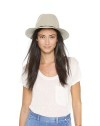 Hat Attack - Natural Wool Felt Avery Fedora Hat - Lyst