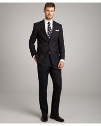 Tommy Hilfiger - Blue Navy Pin Dot Wool Blend Nathan 2-button Trim Fit Suit with Flat Front Pants for Men - Lyst