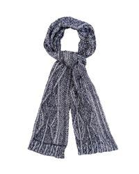 Inis Meáin - Blue Aran-Knit Linen Scarf for Men - Lyst