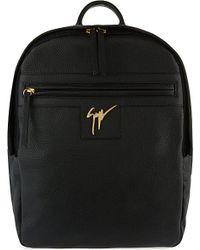 Giuseppe Zanotti - Black Zipped Leather Backpack for Men - Lyst