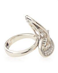 Lagos - Metallic Pirouette Triple Knot Diamond Ring Size 7 - Lyst