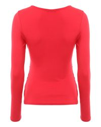 Jane Norman | Red Long Sleeve Essential Wrap Jersey | Lyst