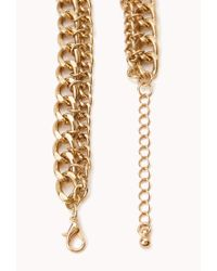 Forever 21 | Green Goddess Teardrop Chain Bib Necklace | Lyst