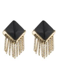 Alexis Bittar - Black Lucite Fringe Pyramid Clip Earring You Might Also Like - Lyst