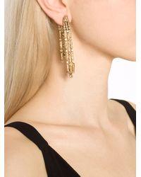 Oscar de la Renta - Metallic Waterfall Clip Earring - Lyst