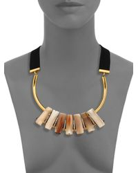 Marni | Pink Horn Ribbon Necklace | Lyst