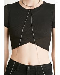 Forever 21 - Metallic Collar Body Chain - Lyst