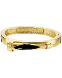 Vince Camuto | Metallic Inlaid Horn Hinge Bangle | Lyst