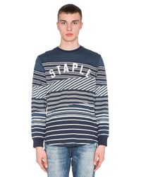 Staple | Blue Breakneck L/s Tee for Men | Lyst