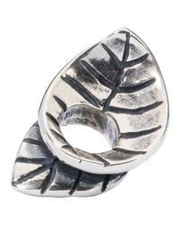 Trollbeads | Metallic Sterling Silver Spring Leaves Bead | Lyst