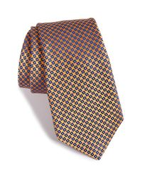Ike Behar - Metallic Geometric Silk Tie for Men - Lyst