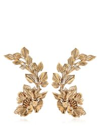 Roberto Cavalli | Metallic Flower Cuff Earrings | Lyst