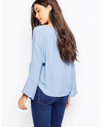 Mango - Blue Bell Sleeve Top - Lyst