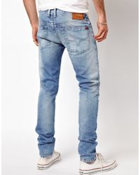 Pepe Jeans - Blue Hatch Skinny Fit Bleach Wash for Men - Lyst