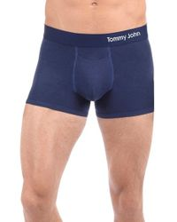 Tommy John | Blue Cool Cotton Trunks for Men | Lyst