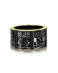 Pluma | Black Peanuts Printed Brass Bangle | Lyst