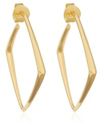 Dinny Hall | Metallic Medium Gold Vermeil Cushion Hoop Earrings | Lyst