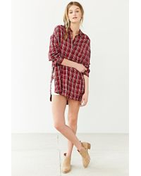 BDG | Red Logan Button-down Shirt | Lyst