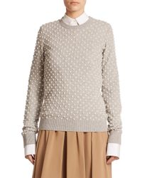 Michael Kors | Gray Pearl Cashmere Sweater | Lyst