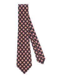 Kiton - Black Tie for Men - Lyst