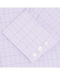Turnbull & Asser - Pink Lilac Check Cotton Shirt With Classic T&a Collar for Men - Lyst