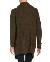 Lord & Taylor   Green Cross-front Cardigan Sweater   Lyst