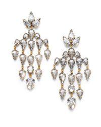 Erickson Beamon - Metallic Swarovski Crystal Velocity Chandelier Earrings - Lyst