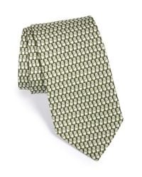 Ferragamo | Green Panda Print Silk Tie for Men | Lyst