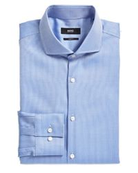 BOSS - Blue 'jason' Ww Slim Fit Dress Shirt for Men - Lyst
