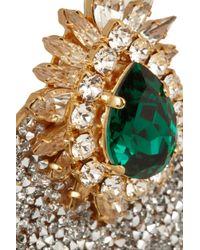 Shourouk - Metallic Luna Comet Gold-Plated Swarovski Clip Earrings - Lyst