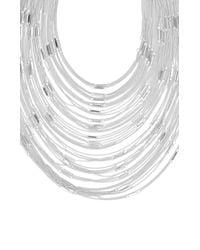 BCBGMAXAZRIA | Metallic Multi Layered Bar Chain Necklace | Lyst
