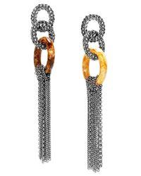 INC International Concepts - Metallic Hematite-tone Link Linear Drop Earrings - Lyst