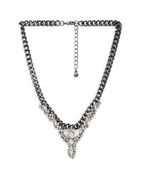 Forever 21 - Metallic Rhinestoned Statement Necklace - Lyst