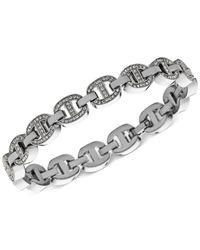 Michael Kors | Metallic Crystal Maritime Link Bracelet | Lyst
