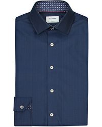 Duchamp | Blue Herringbone Tailored-fit Cotton Shirt for Men | Lyst