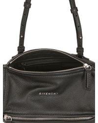 Givenchy - Black Mini Pandora Leather Shoulder Bag - Lyst
